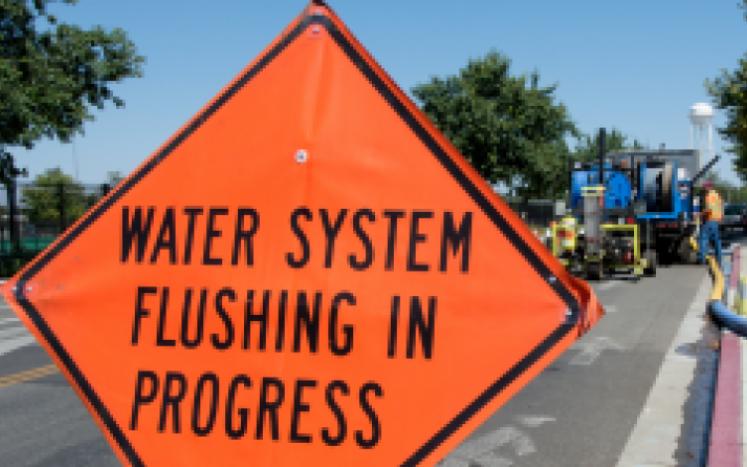 Blackstone water main flushing